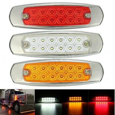 12 LED Side Marker Clearance Lights Indicator Lamp Caravan Trailer Truck UTE Bus