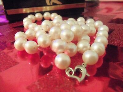 Retro, Vintage 1930s-1980s Vintage Estate 3 Strand 7.5mm 8mm Baroque Cultured Pearl Necklace Sterling Clasp Engagement & Wedding
