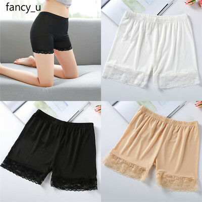 Women Shorts Safety Pant Underwear Hollow Skirt Dress Slips Lace Leggings Briefs