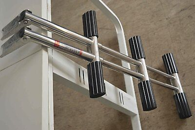 Stainless 3-Step Diver Ladder, Dual Vertical Telescoping Tube-Heavy Duty Boat