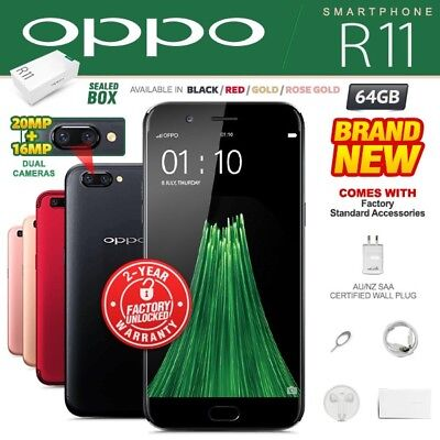 New & Sealed Factory Unlocked OPPO R11 Black Rose Gold 64GB Android Smartphone
