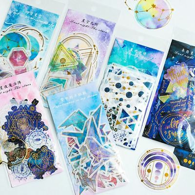 60 Sheet/Pack Kawaii Galaxy Washi Stickers DIY Scrapbooking Photo Album New