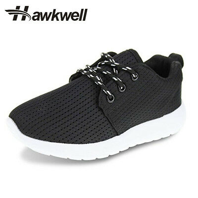 Hawkwell Boys Girls Breathable Lace-up Shoes Kids Casual Sport Running Sneakers