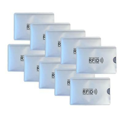 10X RFID Credit Card ID Sleeve Protector Safety Aluminum Shield Anti Theft New
