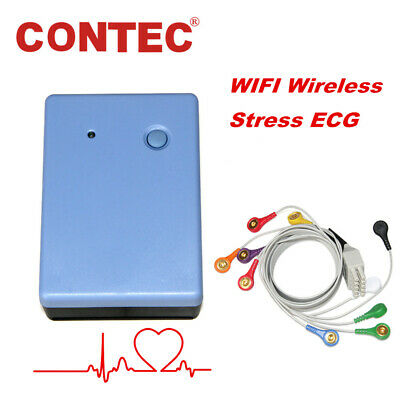CONTEC8000S Wireless Exercise Stress ECG Machine Analysis System PC Software NEW