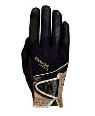 (8.5, black-gold) - Roeckl - riding gloves MADRID. Free Delivery