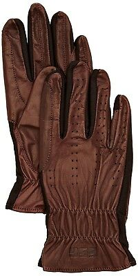 (6, Brown) - SSG Gloves 4000 Pro Show Riding Gloves - Brown, Size 6