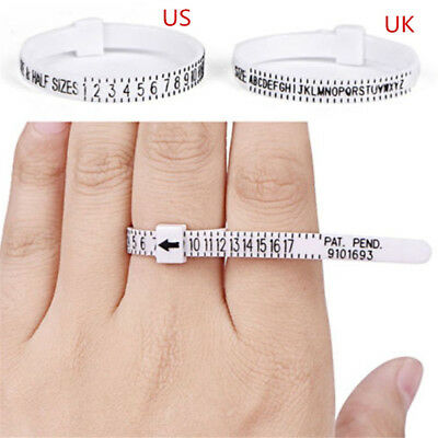 Men and Womens Sizes A-Z Ring sizer UK/US Official Finger Measure Gauge New