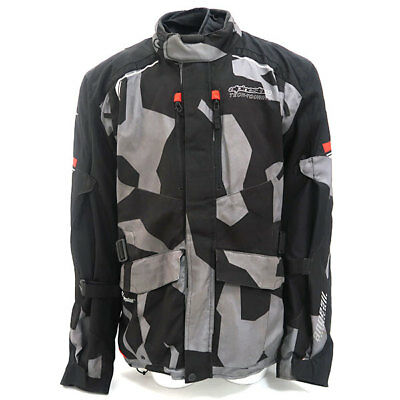 Alpinestars Andes V2 Drystar Motorcycle Motorbike Textile Jacket - Black Red 4XL