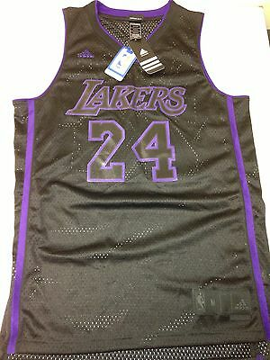 a1e83f4c8ca Kobe Bryant Authentic Adidas Mesh Jersey Lakers Limited Edition Black/  Purple XL