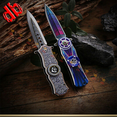 Outdoor Tactical Survival Folding Pocket Knife for Camping Hunting EDC 16