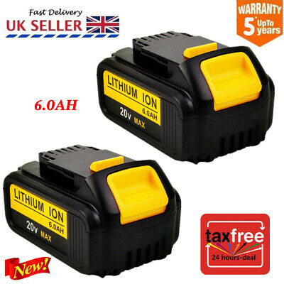 2x6.0Ah 18V Volt XR Li-ion Battery for Dewalt DCD785 DCB184 DCB182 DCF885 DCB203