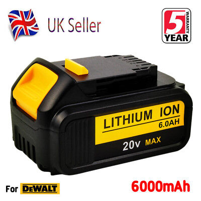 New 20V 6.0Ah Lithium ion Battery For Dewalt DCB184 DCB182 DCB203 18V XR Slide
