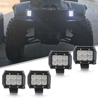 """4x Led Work Lights flood Offroad Lamp For ATV JEEP CAR UTE Truck 4"""" Cube Pods"""