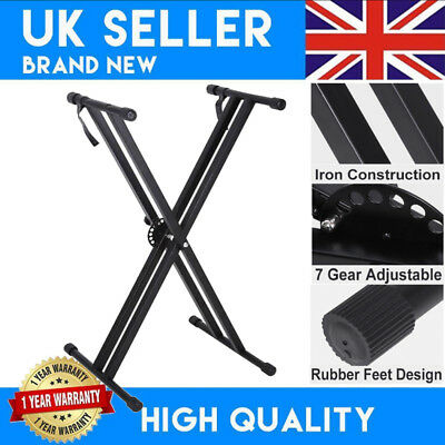 X Frame Piano Keyboard Stand - Double Braced- Portable, Durable & Adjustable UK