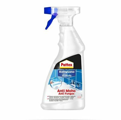 Pattex Spray Antimoho Baño Sano para juntas, mamparas, azulejos, paredes, 500 ml