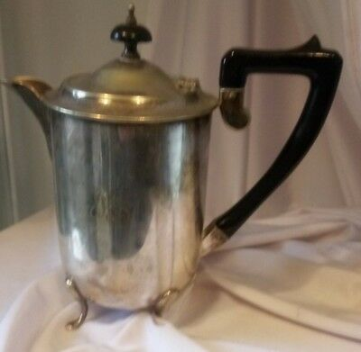 SILVER PLATE, ENGLISH, (1960's), E.P.N.S. HARD SOLDERED COFFEE POT, WITH INTIALS