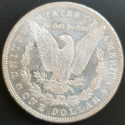 1887 P USA Morgan Silver Dollar Coin. (Mirror Prooflike) UNCIRCULATED..