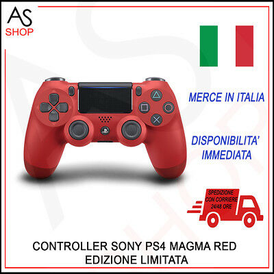 Joystick Controller Ps4 Dualshock 4 Sony Magma Red V2 It Playstation 4 Nuovo