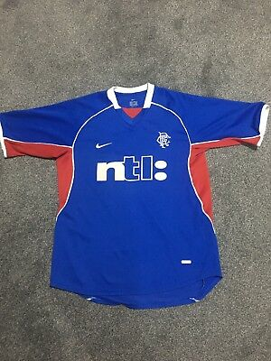 Great Condition Glasgow Rangers Football Top 2001-02 - Size S