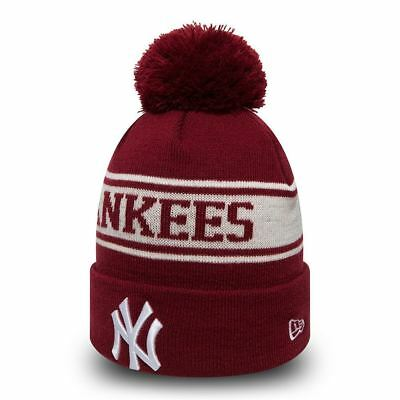 New Era MLB Bobble New York Yankees Seasonal Jake Sport Knit Sideline Beanie Hat