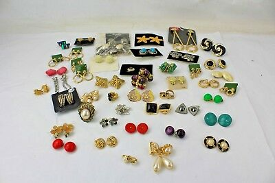 Job Lot of 46 Various Pairs of Clip on Earrings