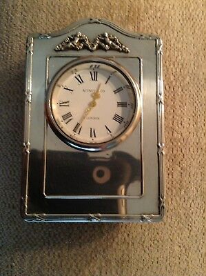 Kitney & Co Sterling Silver Clock