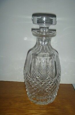 """WATERFORD  CRYSTAL DECANTER w/STOPPER~9.5""""~BEAUTIFUL"""