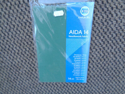 Christmas Green 14 Count Aida Needlework Fabric 39X 45Cm