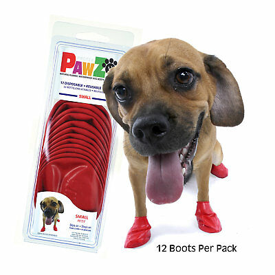 PAWZ Rubber Dog Boots, Small