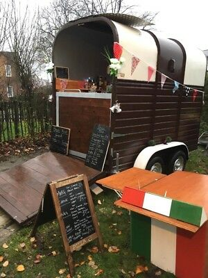 Catering trailer/classic horse trailer conversion/gin bar/pizza/weddings/coffee