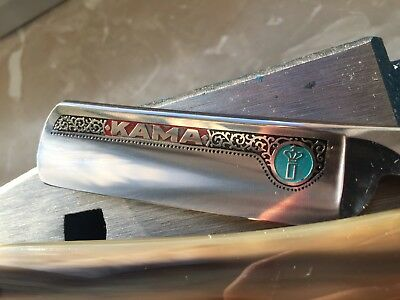 Vintage Solingen Straight Razor 219 Kama 7/8+ with horn scales!! Shave ready!!