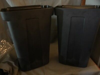 2 X Refuse Bin For Utility/service/bus Cart Trolley