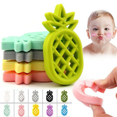 Pineapple Silicone Teether Teething Baby Sensory Toys Pacifier Chain Pendant BIN
