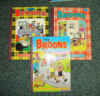 Broons Books 1977,1979 & 1987 -  Good Condition