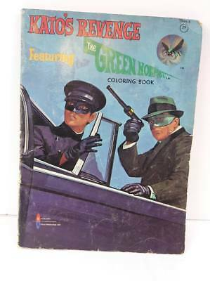 1966 Kato's Revenge Featuring The Green Hornet Coloring Book  Free Shipping