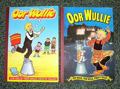 Oor Wullie Books 1990 & 1992 -  Good Condition