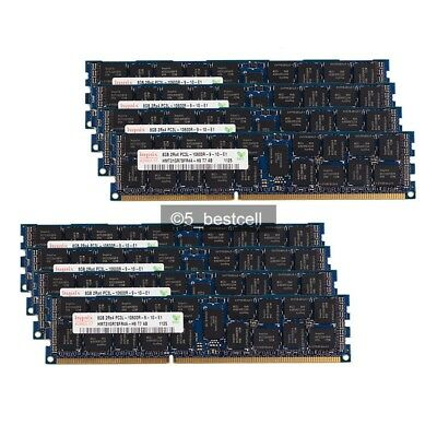 DDR3 PC3-10600R ECC Reg Server Memory RAM Dell PowerEdge C6100 64GB 8x8GB