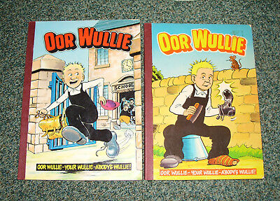 Oor Wullie Books 1984 & 1988 -  Good Condition