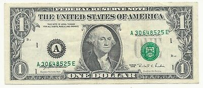 1995 $1 Federal Reserve Note  ERROR   SEVERE 3RD PRINT SHIFT