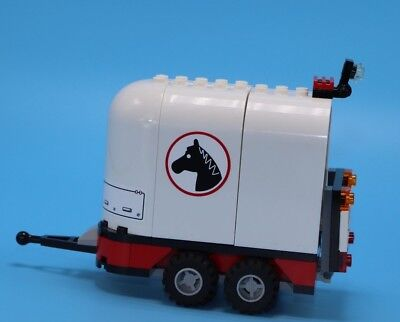 Lego White Horse Trailer - Exactly as pictured