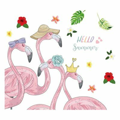 Flamingo Wall Room Decor Removable Wall Decals Self-adhensive Wall Sticker K7