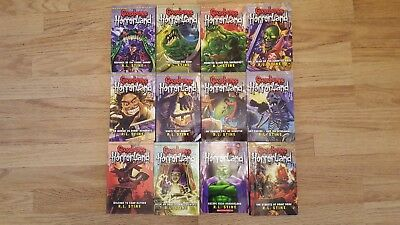 Goosebumps Horror Land Series 12 Books Set Collection by R L Stine
