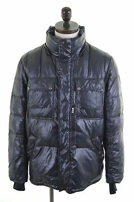 GEOX Mens Padded Jacket EU 40 Medium Black Polyamide  HF24