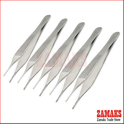 5X Dental Surgical Adson Tweezers Veterinary Tissue Cotton & Dressing Forceps