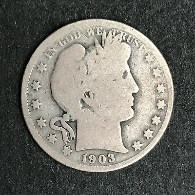 1903-P Barber Silver Half Dollar, Estate Coin, MP