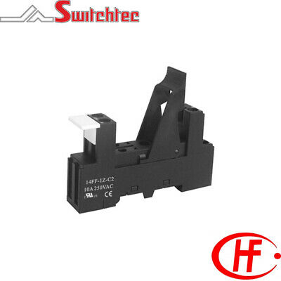 IP20 Single Pole Din Rail Mount Relay Base Suitable for 5 Pin PCB Relay