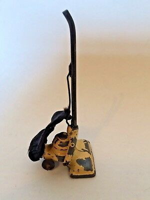 Vintage doll's house Barrett & Sons metal Vacuum Cleaner with Bag, Hoover - L9