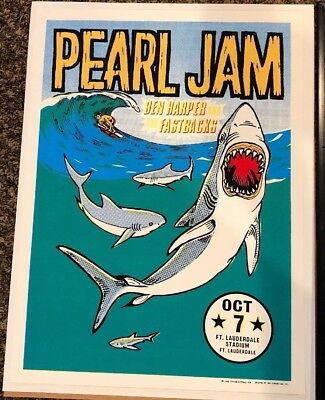 Pearl Jam Ft. Lauderdale 1996 Ames Brothers Poster - No Code Tour, Rare Find!!