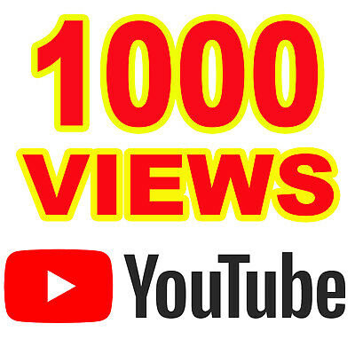 1000 Views YouTube Non Drop HQ_A+ Region Country